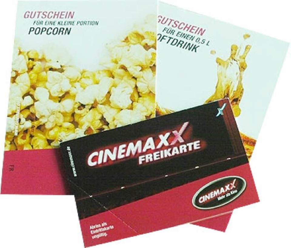 verlosung kino gutscheine f rs cinemaxx freiburg. Black Bedroom Furniture Sets. Home Design Ideas