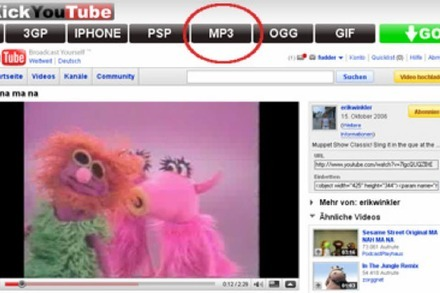 KickYouTube: Songs von YouTube als MP3 speichern