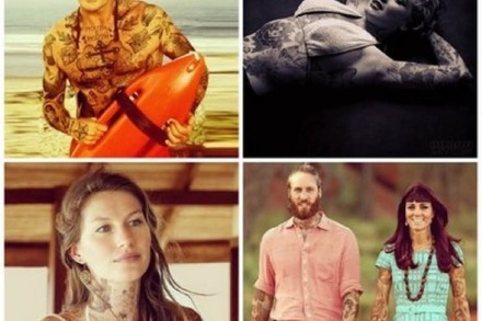 So sehen Marilyn Monroe, Kate Middleton und David Hasselhoff mit Old-School-Tattoos aus