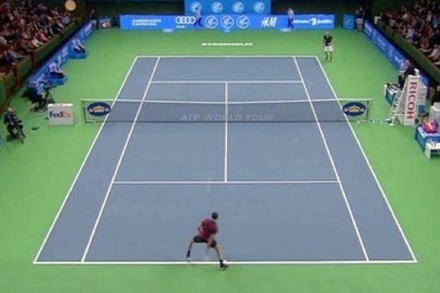Video: Tennisprofi Grigor Dimitrov mit zwei Hot-Shots in einer Minute