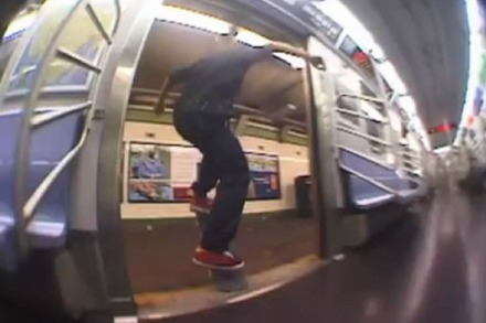 Video: Skaten in der New Yorker U-Bahn