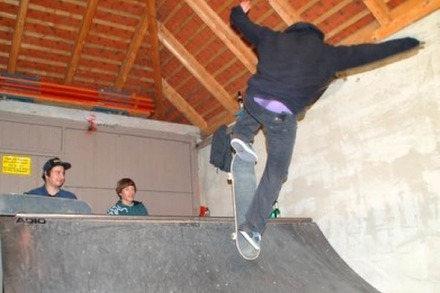 Die Mini-Ramp in der Garage