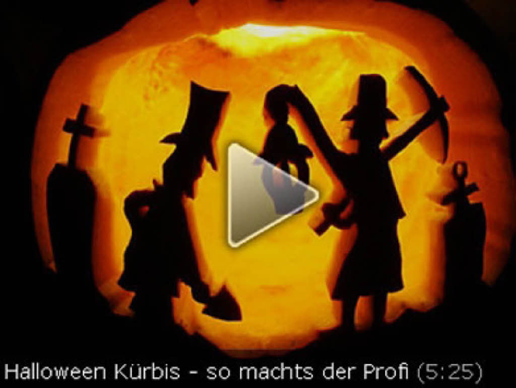 video so schnitzt du den perfekten halloween k rbis freiburg. Black Bedroom Furniture Sets. Home Design Ideas