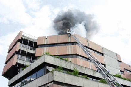 Video: Brand in der Unibibliothek