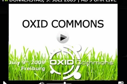 Jetzt live: Oxid Commons