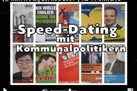 Heute live: Speed-Dating mit Kommunalpolitikern