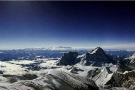 Panoramafoto: Blick vom Mount Everest