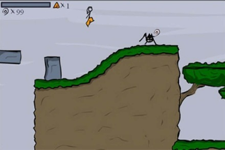 Flash-Game: Strichmännchen-Jump'n'Run