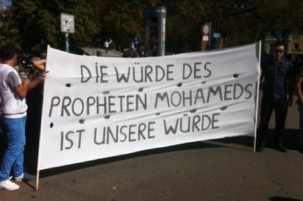 Demonstration gegen Mohammed-Video in Freiburg