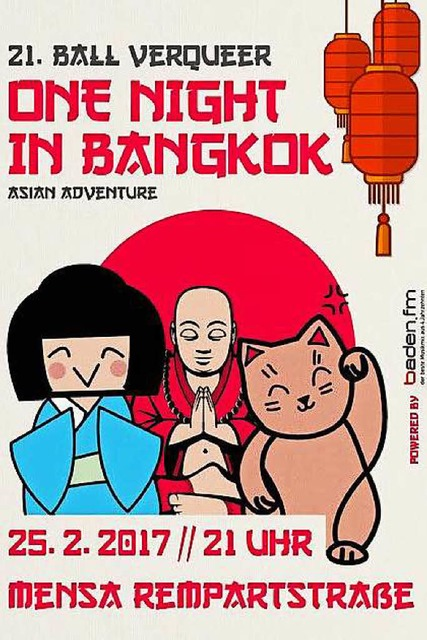 """One Night in Bangkok – Asian Adventures"" lautet das Motto des Ball VerQueer 2017. (Foto: Promo)"
