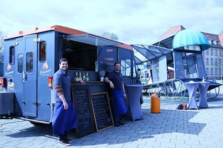 Foodtruck: Bei Crossover Lucky-Food gibt's Gourmetburger