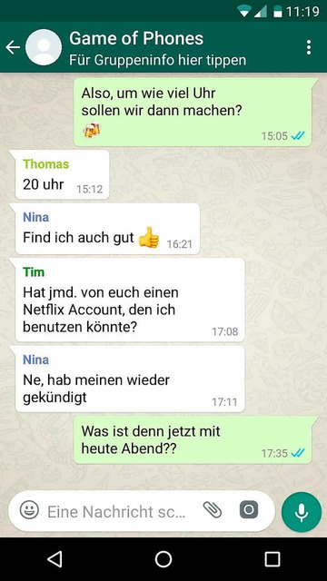 Dinge, die an Whatsapp-Gruppen nerven. (Foto: Screenshot)