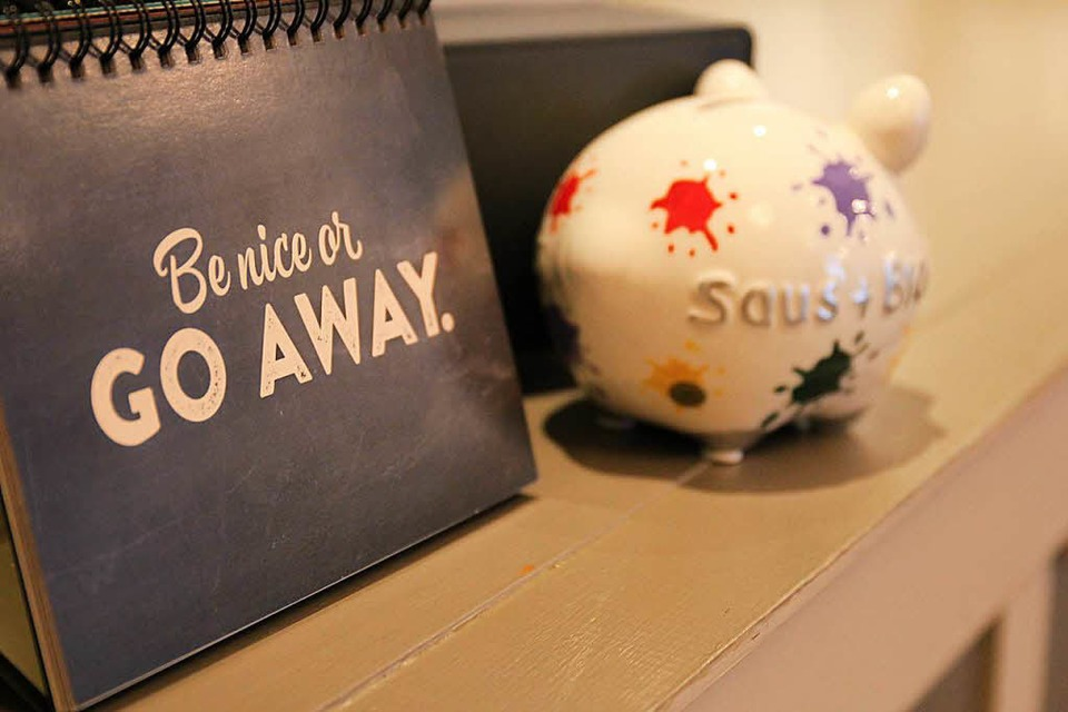 Das Motto: Be nice or go away. (Foto: Enya Steinbrecher)