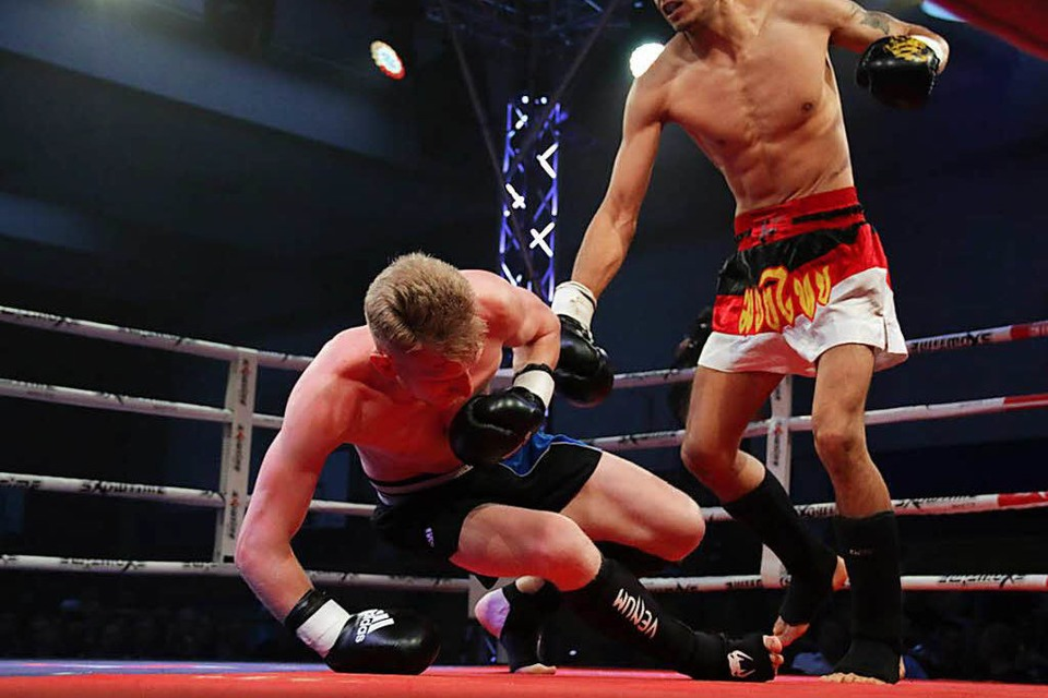 Die Champions-Fight-Night in Freiburg. (Foto: Laura Wolfert)