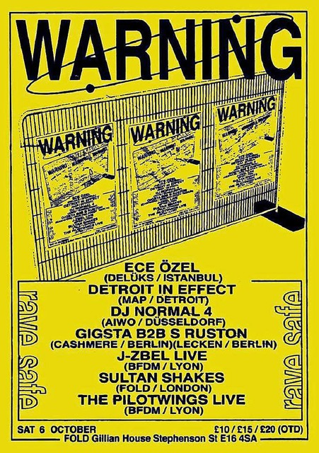 Der Flyer der letzten Warning-Party in Berlin. (Foto: Pro)