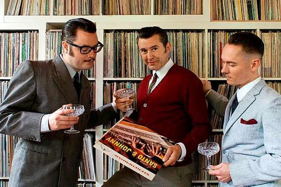 Hank the DJ, Buddy Belpaso und Glencheck sind die Grand Ole Country Swindle-DJs. (Foto: Katharina Rau)