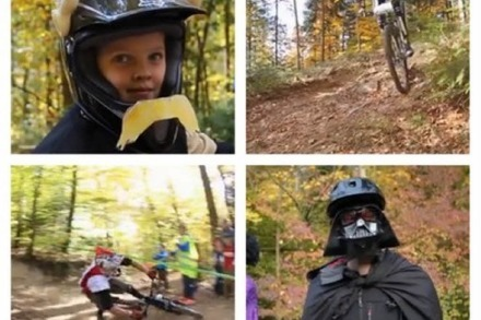 Video: Verkleidete Bike-Pros rasen den Borderline-Trail am Rosskopf runter