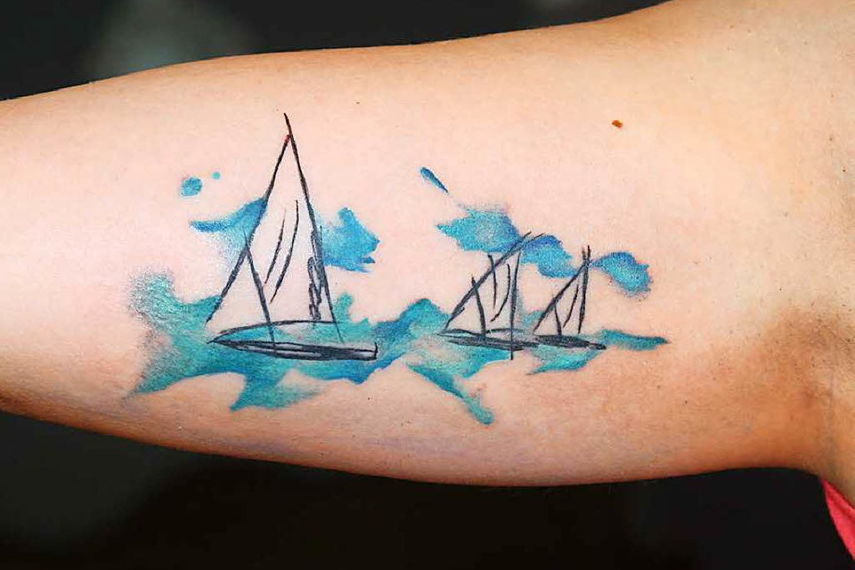 Aquarell-Tattoo von Heiko Hacker (Foto: Privat)