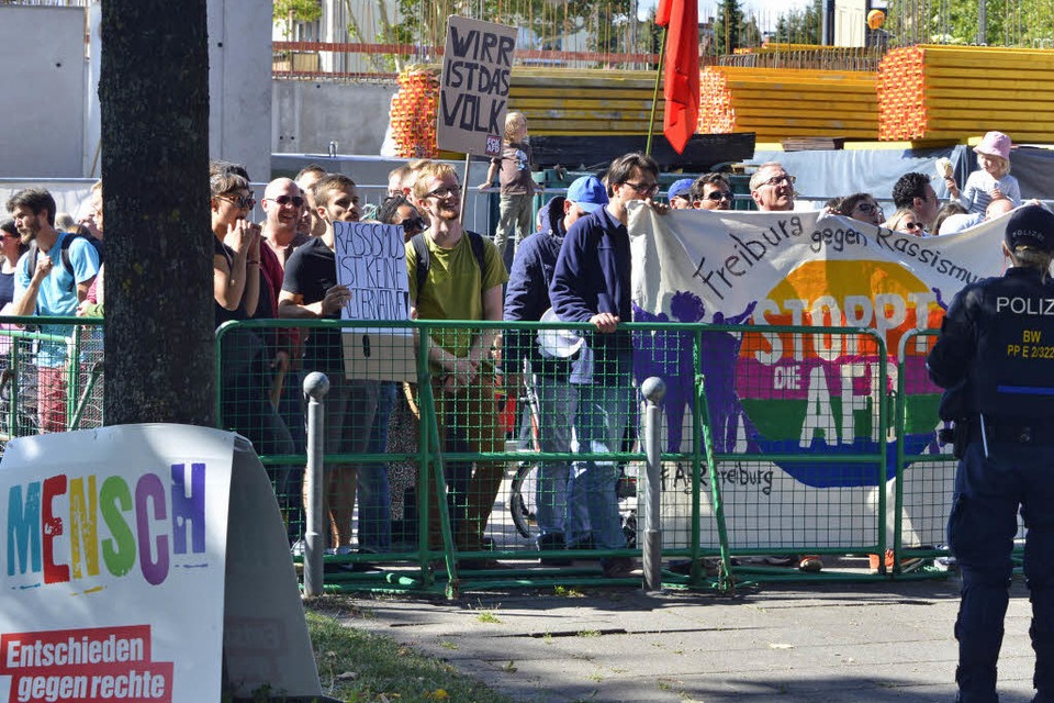 Anti-AfD-Demo in Zähringen (Foto: Michael Bamberger)